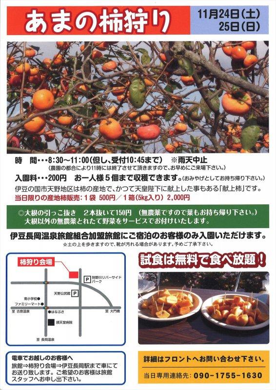 「献上柿」あまの柿狩り