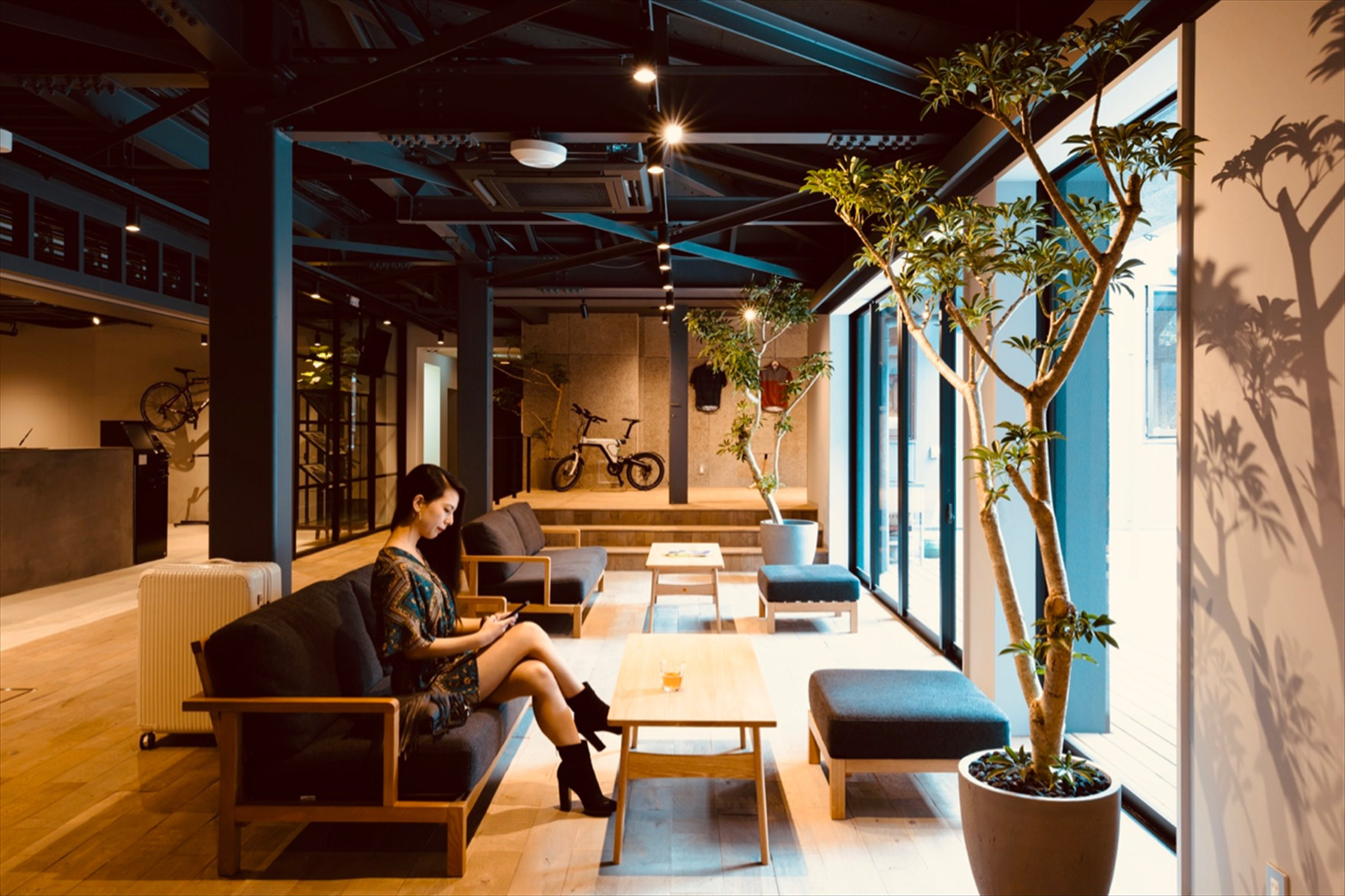 The Lobby where both Bicycle Lovers and Locals Gather